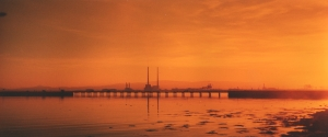 Dollymount Bridge in Orange